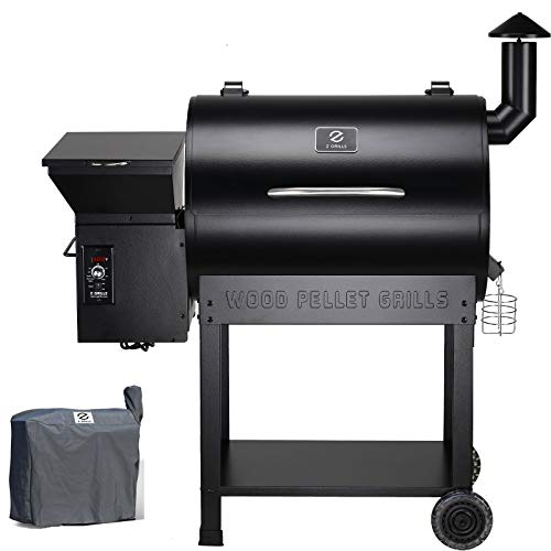 Z Grills ZPG-7002B 2020 Upgrade Wood Pellet Grill & Smoker, 8 in 1 BBQ Grill Auto Temperature...