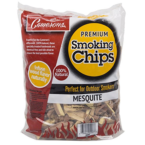 Smoking Chips - (Mesquite) - 2 Pound Bag Barbecue Chips - Kiln Dried, Natural Coarse Wood Smoker...
