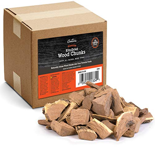 Camerons Products Smoking Wood Chunks (Oak)~10 Pounds, 840 cu. in. - Kiln Dried BBQ Large Cut...