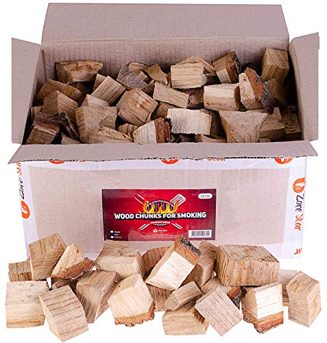 Zorestar Oak Apple Smoker Wood Chunks - BBQ Cooking Chunks for All Smokers - 15-20 lb of Natural...
