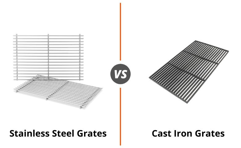 Stainless Steel vs Cast Iron Grill Grates